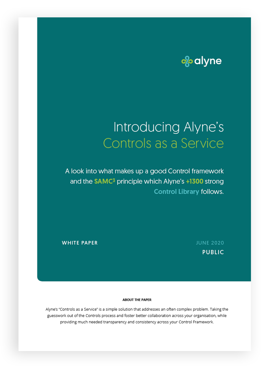 controls as a service front cover